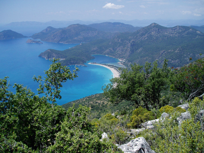Blue Lagoon, Olu Deniz, from the Lycian Way