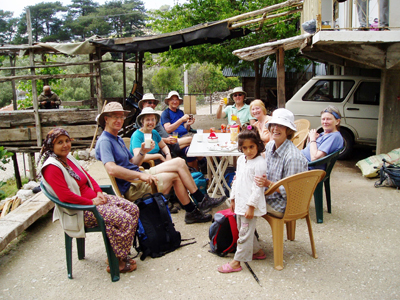 A well-earned 'tea-break' on the Lycian Way